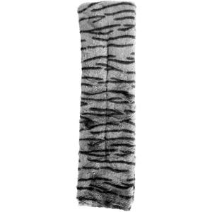 Wärme Schal Nacken Wärmekissen Kühlkissen mit Hirsefüllung Grau gestreift