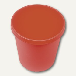 Helit Objekt-Papierkorb, 18 Liter, (Ø)31.5 x (H)33.1 cm, PE, rot, H6105825