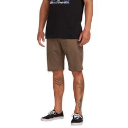 Volcom - Frckn Mdn Strch Sht Mushroom - Shorts - Größe: 34 US