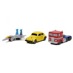 JADA Spielzeug-Auto Nano Hollywood Rides - Transformers - 3-Pack - Optimus Prime, Bumblebee & Starscream