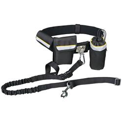 TRIXIE Hundeleine mit Bauchgurt 60-120 cm, 1,35 Meter schwarz