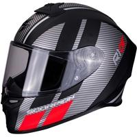 Scorpion Motorradhelm EXO-R1 Air Corpus Matt Black-Silver-Red, Grau/Schwarz/Rot, M