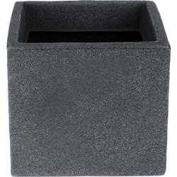 Würfel Blumentopf MODERN LOUNGE DESIGN - Grau Steinoptik Pflanztopf 20x20x18