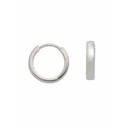 Adelia´s Paar Creolen 925 Silber Ohrringe / Creolen Ø 14 mm, Silberschmuck für Damen