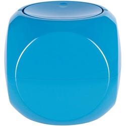 spirella Kosmetikeimer Dice, mit Schwingdeckel blau