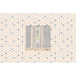 Gardine Vorhang für Wohnzimmer Schlafzimmer Dekor, Abakuhaus, Abstrakt Pastellkristalldiamanten grau 150 cm x 245 cm