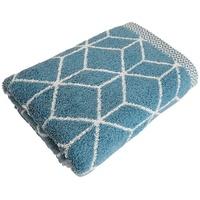 framsohn frottier Handtücher Design Jacquard (2-St), mit mehrfarbig gewebtem Saum blau