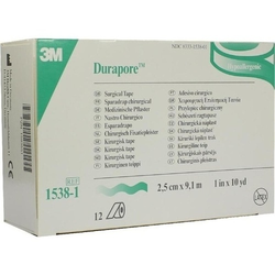 DURAPORE Silkpflaster 2,5 cmx9,1 m Rolle 12 St