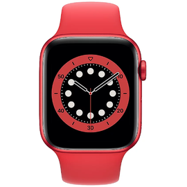 Apple Watch Series 6 GPS 44 mm Aluminiumgehäuse (product)red, Sportarmband (product)red
