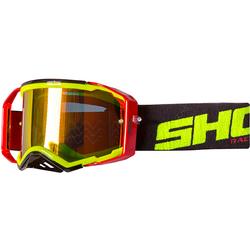 Shot Lite getönte Motocross Brille, rot-gelb