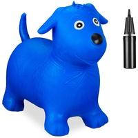 Relaxdays Hüpftier Hund blau