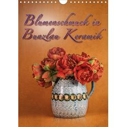 Blumenschmuck in Bunzlau Keramik (Wandkalender 2021 DIN A4 hoch)
