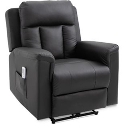 HOMCOM Fernsehsessel mit Massage- und Wärmefunktion 86 x 92 x 100 cm (BxTxH)   Massagesessel TV Sessel Relaxsessel Sessel