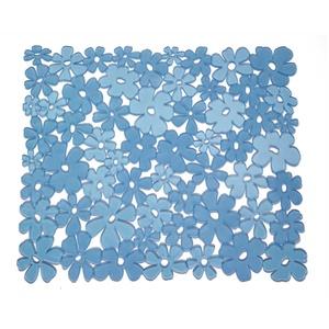 InterDesign Blumz Spülbeckeneinlage, reguläre Spülbeckenmatte aus PVC Kunststoff, blau