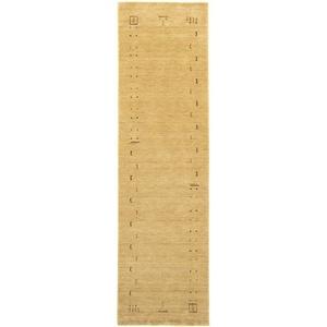 Läufer GABBEH FEIN FENTH, morgenland, rechteckig, Höhe 18 mm, Schurwolle bunte Bordüre beige 80 cm x 300 cm x 18 mm