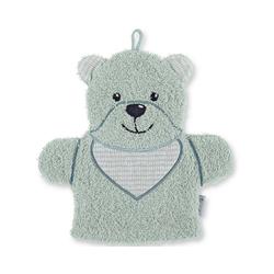 Sterntaler® Waschlappen Spiel-Waschhandschuh Hanno, grau grün