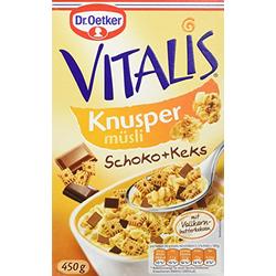 Dr. Oetker Vitalis Knusper Schoko mit Keks
