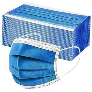 50 Stück Einmal-Mundschutz Mundbedeckung Erwachsene 3-lagig Atmungsaktiv Mund und Nasenschutz Bedeckung Multifunktionstuch Halstuch (50pcs, Dunkelblau)