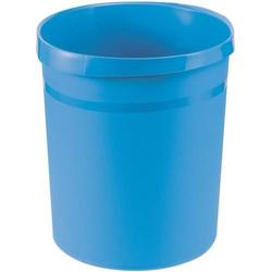 Papierkorb Grip 18 Liter mit 2 Griffmulden Trend Colour hellblau