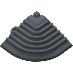 florco® Klickfliesen-Eckleiste, Eckteil grau, 40 cm