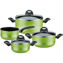 GSW Topf-Set Milano color, Aluminium-Leichtmetall-Legierung, (Set, 7 tlg.), Induktion grün Topfsets Töpfe Haushaltswaren
