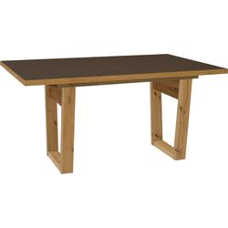 Esstisch Frame, Breite 160 cm, ausziehbar auf 210 cm braun Ausziehbare Esstische Tische