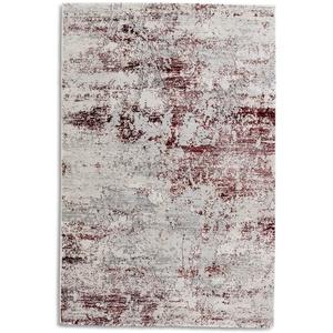 hochwertiger Designer Teppich Antea — Moderne Kurzflor Teppiche — Zimmerteppich im Vintage Design — (80x150cm, rot/Creme Vintage)