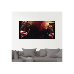 Artland Glasbild Wein - Rotwein, Getränke (1 Stück) 20 cm x 20 cm