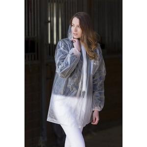 EKKIA Transparente Regenjacke mit Zippverschluss praktisch (XL)