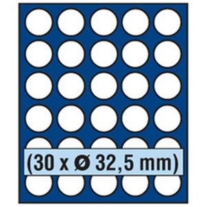 SAFE 6832 Echtholz Münzbox Nova Exquisite 30 x 32,5 mm - mit Runden Fächern - ideal für 10 DM oder Münzen bis 32,5 mm