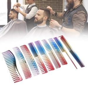 9pcs Professional bunte Haarschnitt Kamm, Salon Friseur Detangling Comb, Styling Tool für Haushalt Friseursalon, Farbe