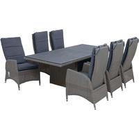 Ploß Vigo Set 13-tlg. Tisch 200 x 95 cm grau
