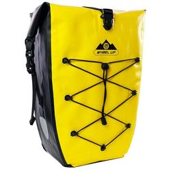 WHEEL UP Fahrradtasche Pack- Gepäckträgertasche Fahrradtasche 100% Wasserdicht 20/25L, gelb