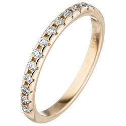 JOBO Diamantring, 585 Gold mit 15 Diamanten 58