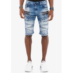 Cipo & Baxx Shorts mit ausgefallenem Muster 29