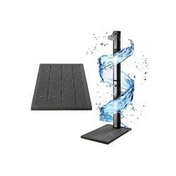 Arebos Outdoor-Bodenplatte Bodenelement für Solarduschen, Anthrazit, Maße: 101 x 63 x 5,5 cm