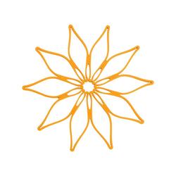 Kochblume Topfuntersetzer Vario, Hitzebeständig bis 230° orange