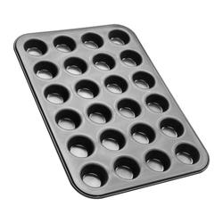 Zenker Muffinplatten Black Metallic 24er Mini-Muffin-Backblech, Edelstahl