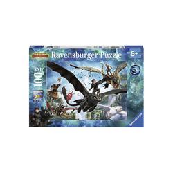 Ravensburger Puzzle Puzzle, 100 Teile XXL, 49x36 cm, Dragons, die, Puzzleteile