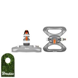 2-Funktion Rasensprenger 320m2 Regner Sprinkler Bewässerung Kreisregner Impulsregner WHITE LINE WL-Z12 Bradas 5480