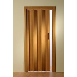 Falttür, Höhe nach Maß, Buchefarben ohne Fenster 135 cm