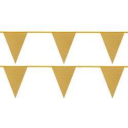 "Wimpelkette ""Glitter"", gold, 6 m"