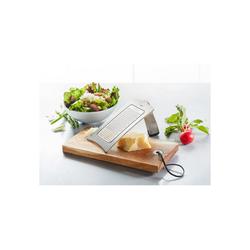 GEFU Küchenreibe Set Gourmet-Reibe mit Holzbrettchen, Edelstahl, (2-St)