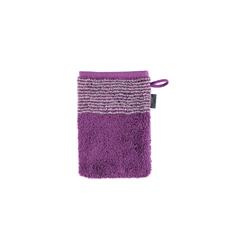 Cawö Waschhandschuh Two-Tone in purpur, 16 x 22 cm