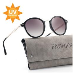 ilikable Retrosonnenbrille ilikable Retro Vintage Sonnenbrille, Klassische Brille UV400 Schutz Modestil mit PC-Gläsern für Frauen (Packung, 1-St., 1) UV400 Schutz grau