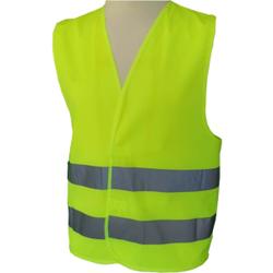 Warnweste nach ISO 20471, Klasse 2, Mit rundum Reflexstreifen, Farbe: gelb