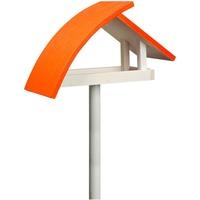 """Luxus-Vogelhaus Vogelhaus New Wave"""" in weiß mit orangenem Dach, inkl. Ständer"""
