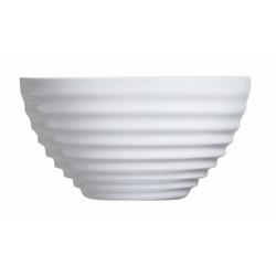 Arcoroc Dessertschale Stairo Uni, Opalglas, Schale Stapelschale Schüssel 13.2cm 500ml Opalglas weiß 1 Stück Ø 13.2 cm x 6.8 cm