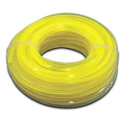 vhbw Mähfaden Trimmerfaden mit 2,4mm Durchmesser passend für Rasentrimmer Motorsense - 15 Meter, 4-eckig, Gelb, Nylon - Rasentrimmerfaden Ersatzfade