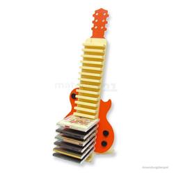 matches21 HOME & HOBBY Holzbaukasten CD DVD Ständer Gitarre Holz Bausatz Kinder